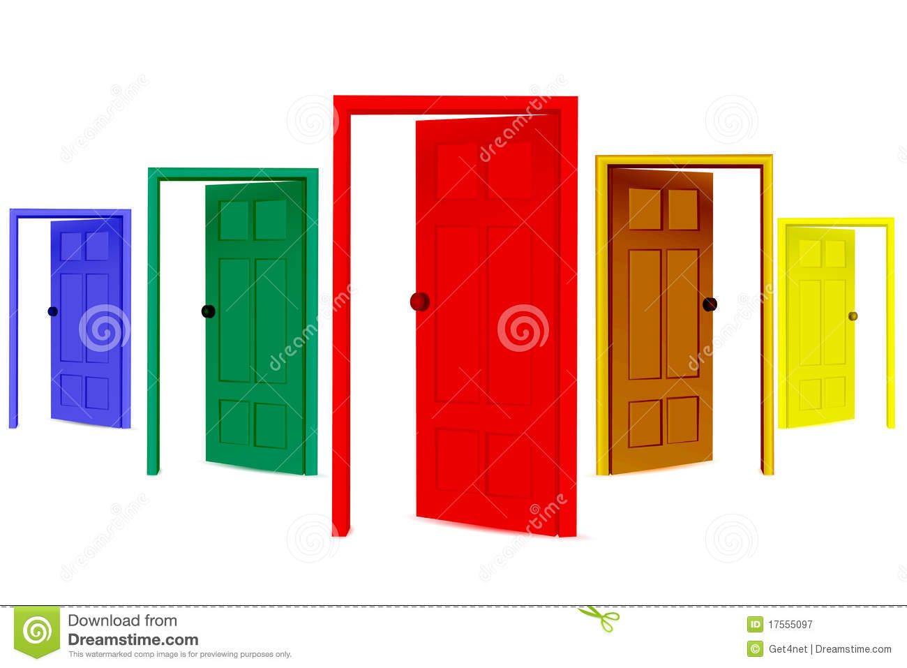 Colorful open doors royalty free stock photography image for Porte ouverte