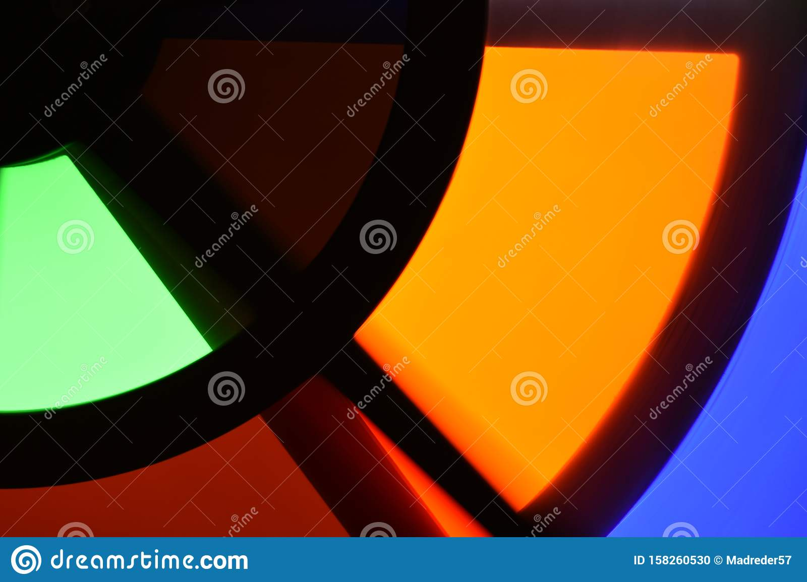 Colorful orange abstract geometric shapes