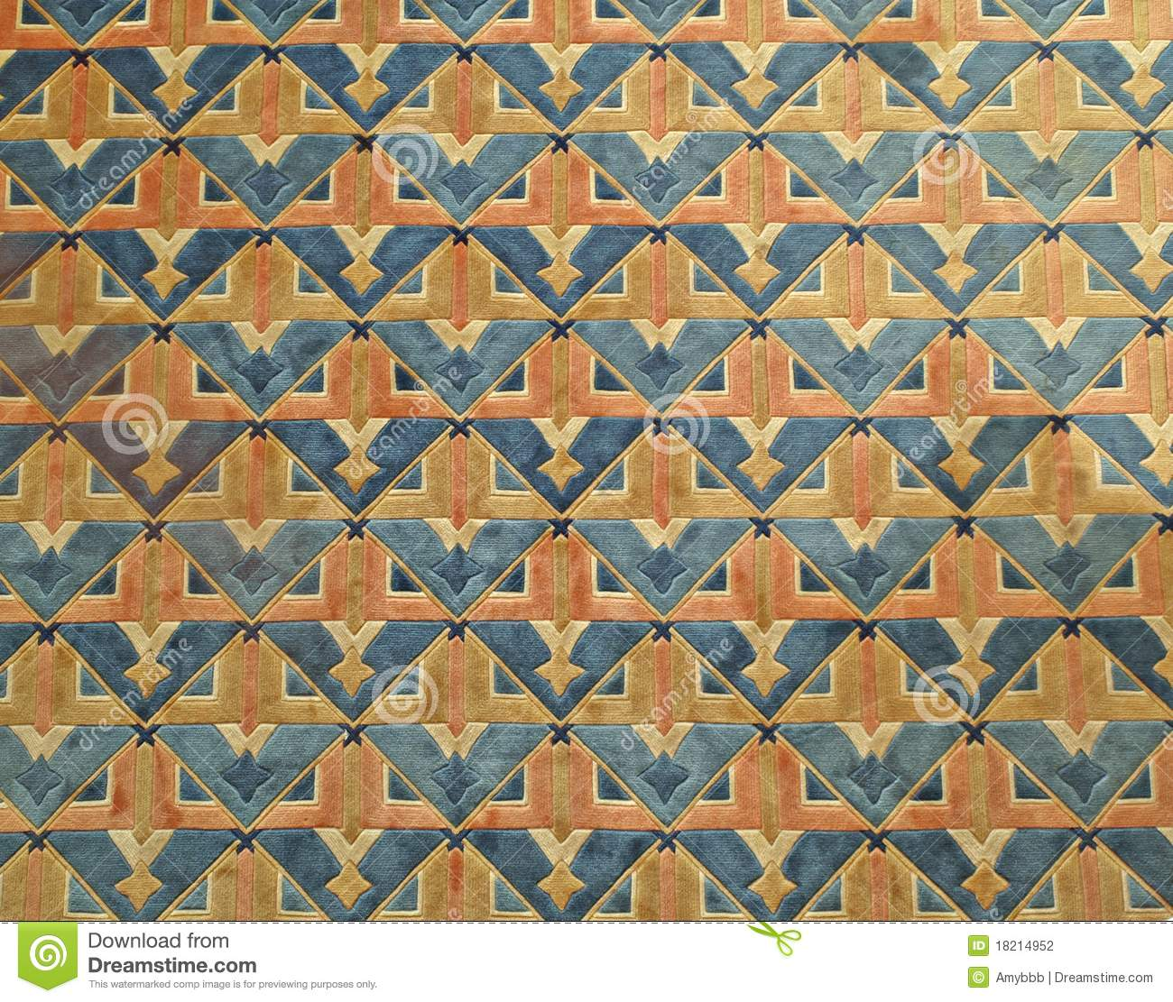 Colorful Oriental Carpet Pattern Background Stock Photo