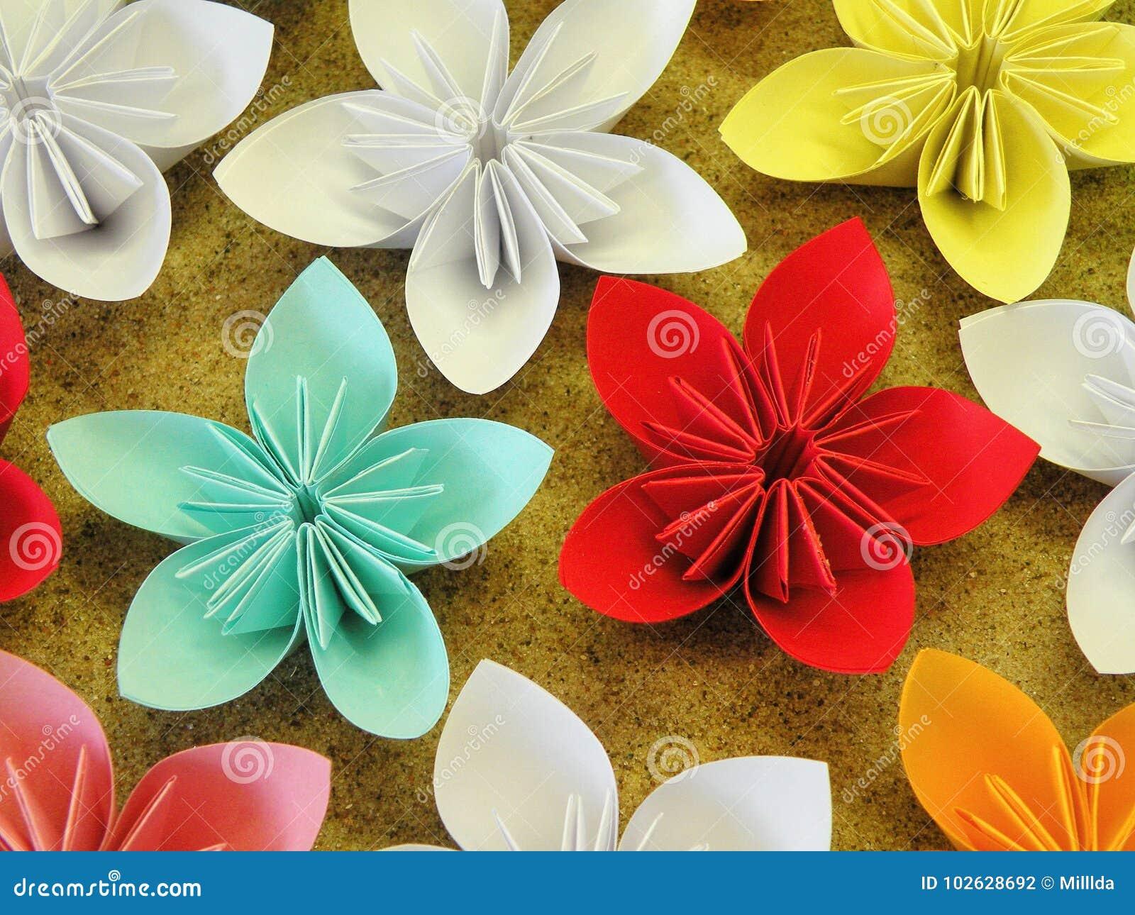 Colorful origami flowers stock photo image of white 102628692 download colorful origami flowers stock photo image of white 102628692 mightylinksfo