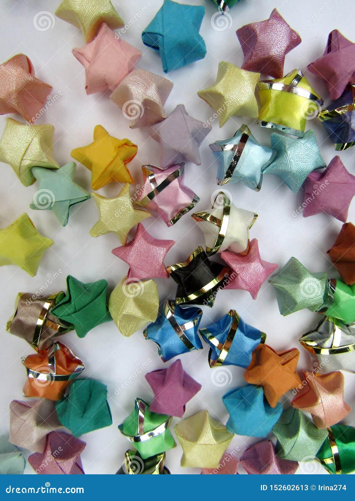 Random Colors (80pcs/lot ) Handmade Handcraft Origami Lucky Star ... | 1689x1200
