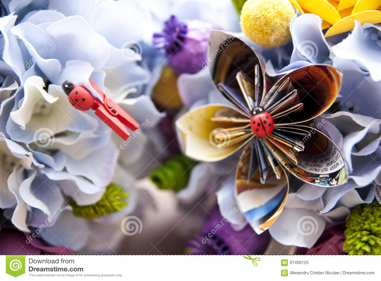 Colorful origami paper flowers stock image image of entertainment colorful origami paper flowers mightylinksfo