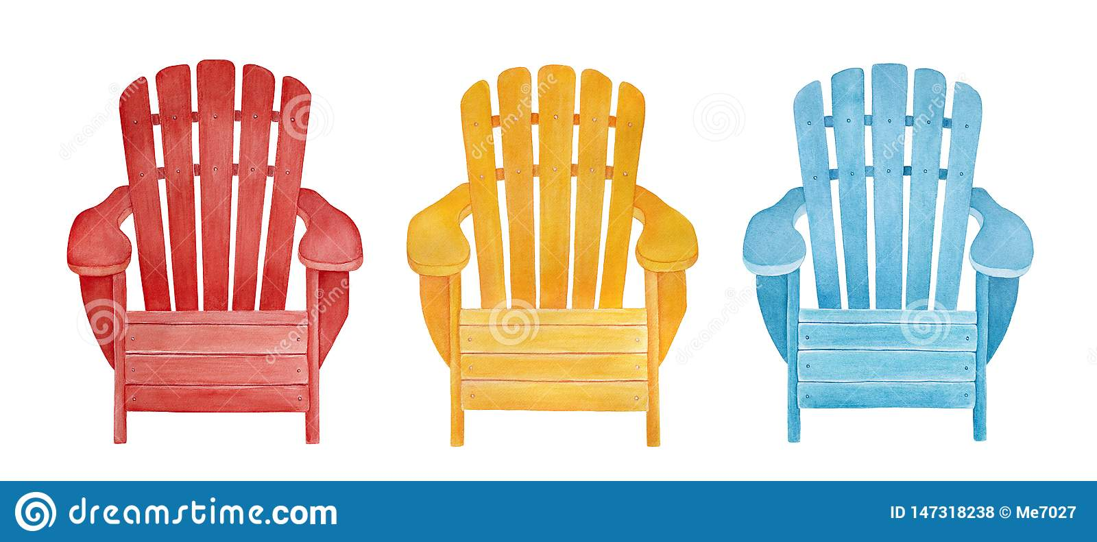 Phenomenal Colorful Outdoor Lounge Chair Collection Stock Illustration Caraccident5 Cool Chair Designs And Ideas Caraccident5Info