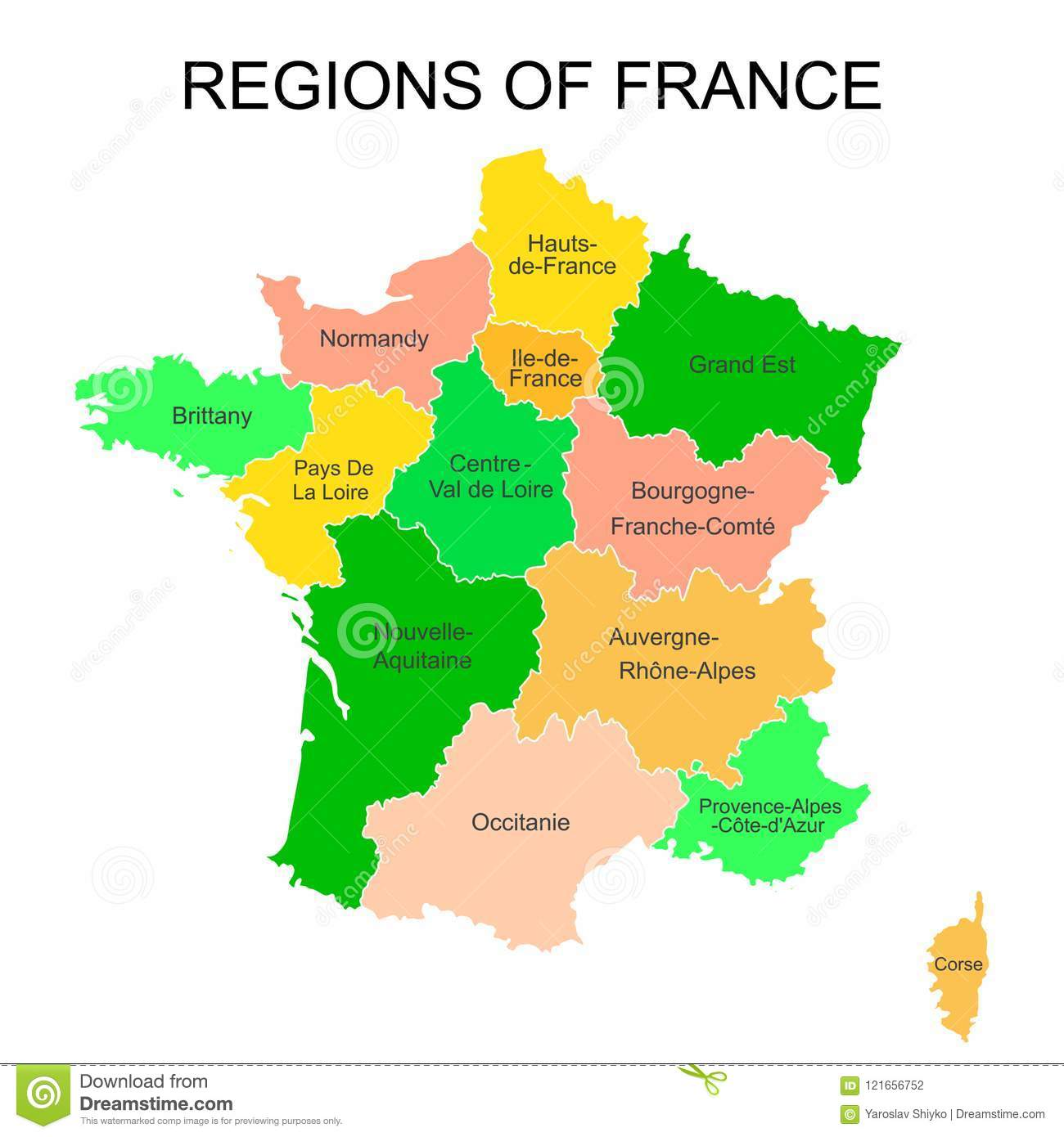Picture of: Colorful Outlines Map Of France With Names On White Background Stock Vector Illustration Of Department French 121656752