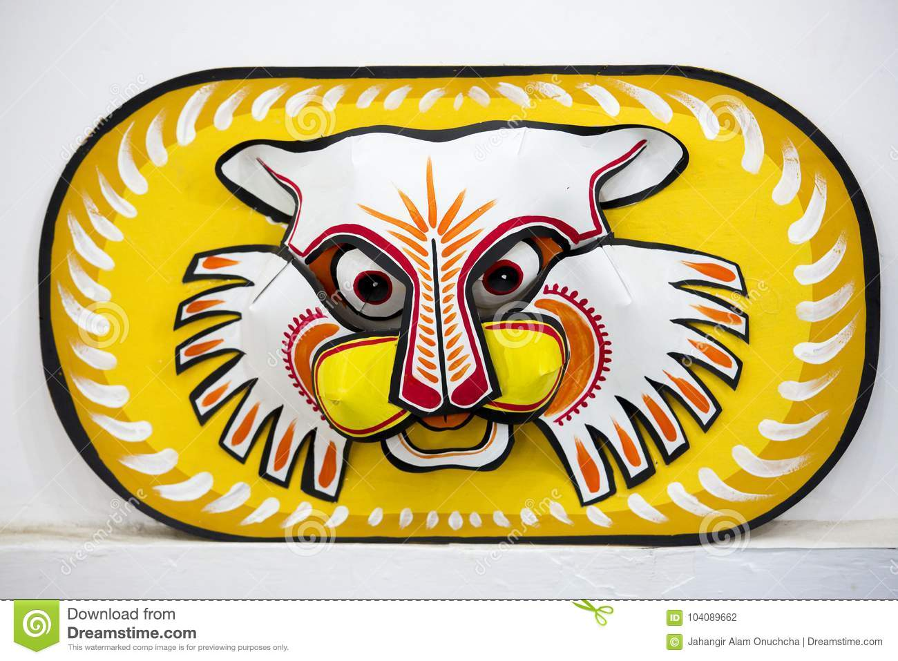 Colorful Owl Mask Hanging On Art Institute Wall. Editorial ...