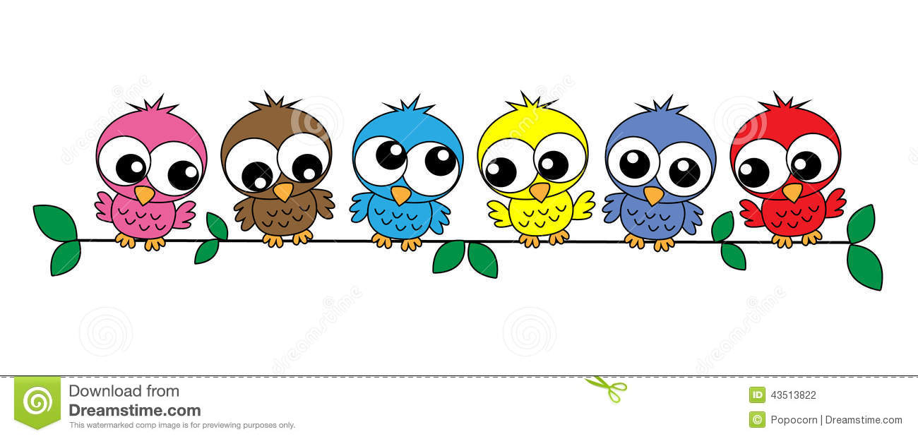 Colorful Owls Stock Vector Image Of Celebrate Banners
