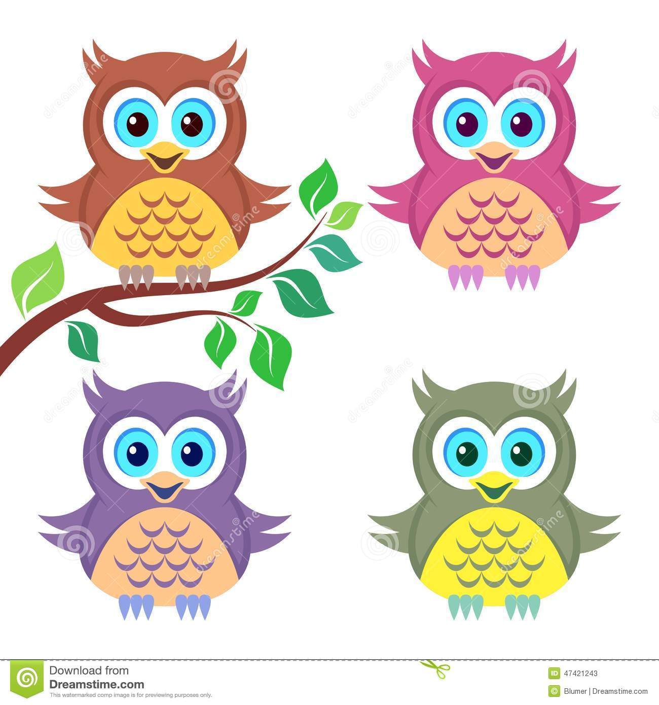 colorful cute owl vector - photo #18