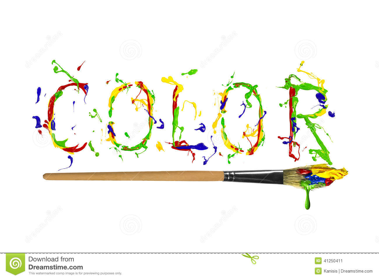 Colorful Paint Painted Word Color Stock Illustration - Image: 41250411