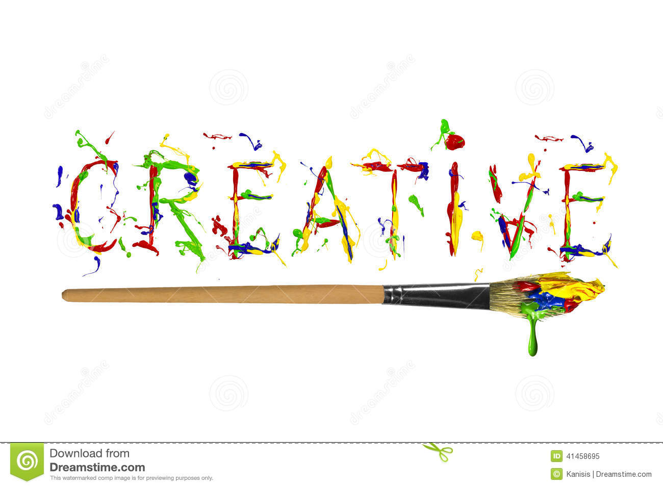 Colorful Paint Painted Word Creative Stock Illustration
