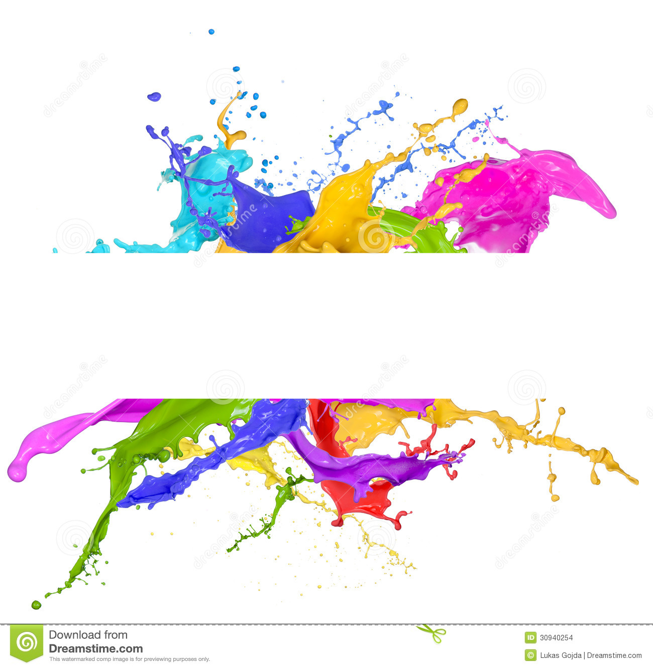 Colorful Paint Splash Stock Photo Image Of Nature Consistent