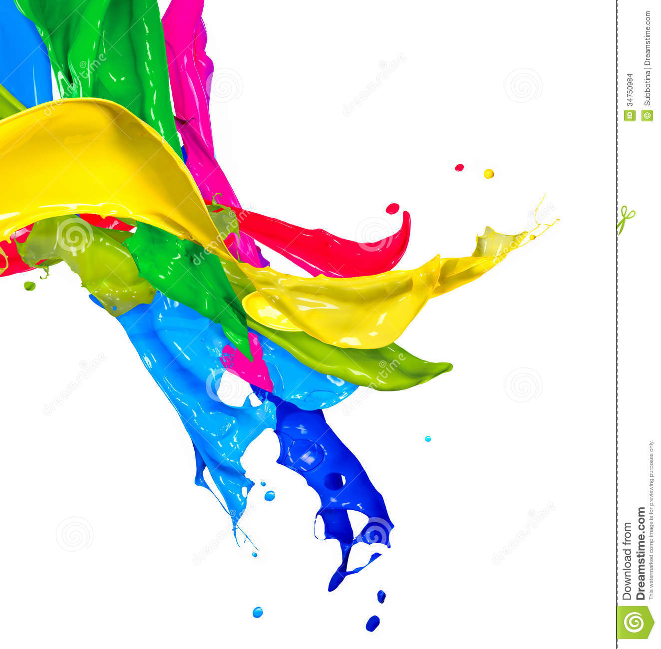 Colorful Paint Splashes Stock Illustration Of Colour