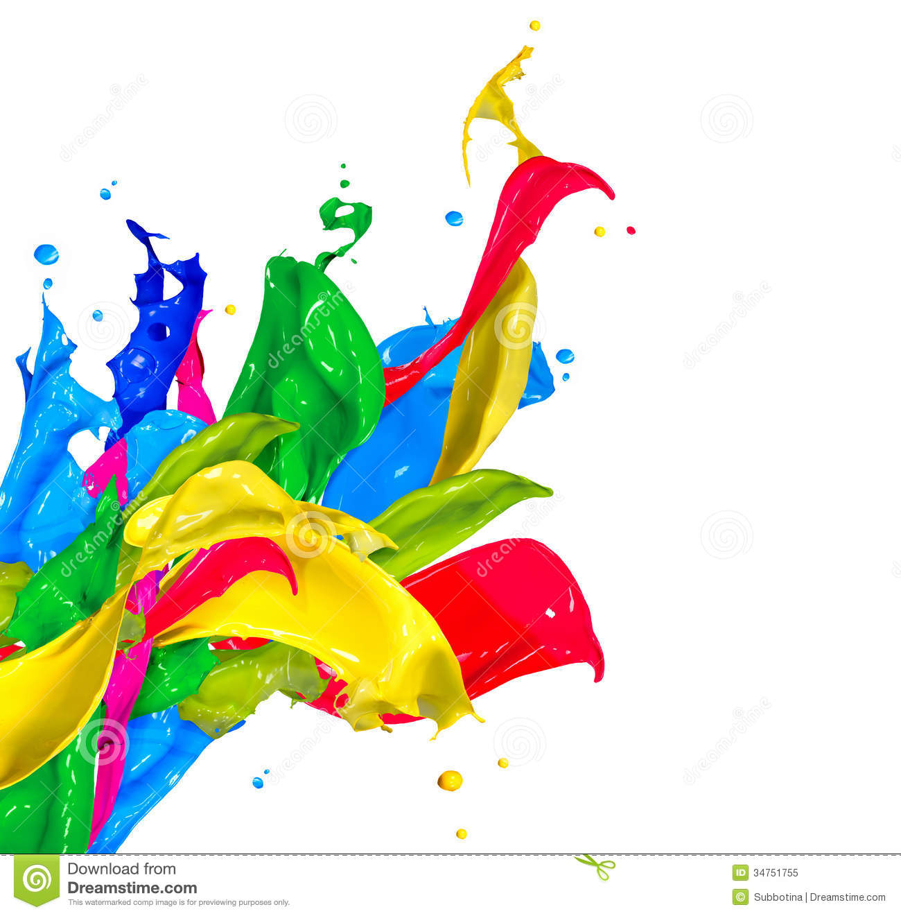 Colorful Paint Splashes Royalty Free Stock Photo - Image: 34751755