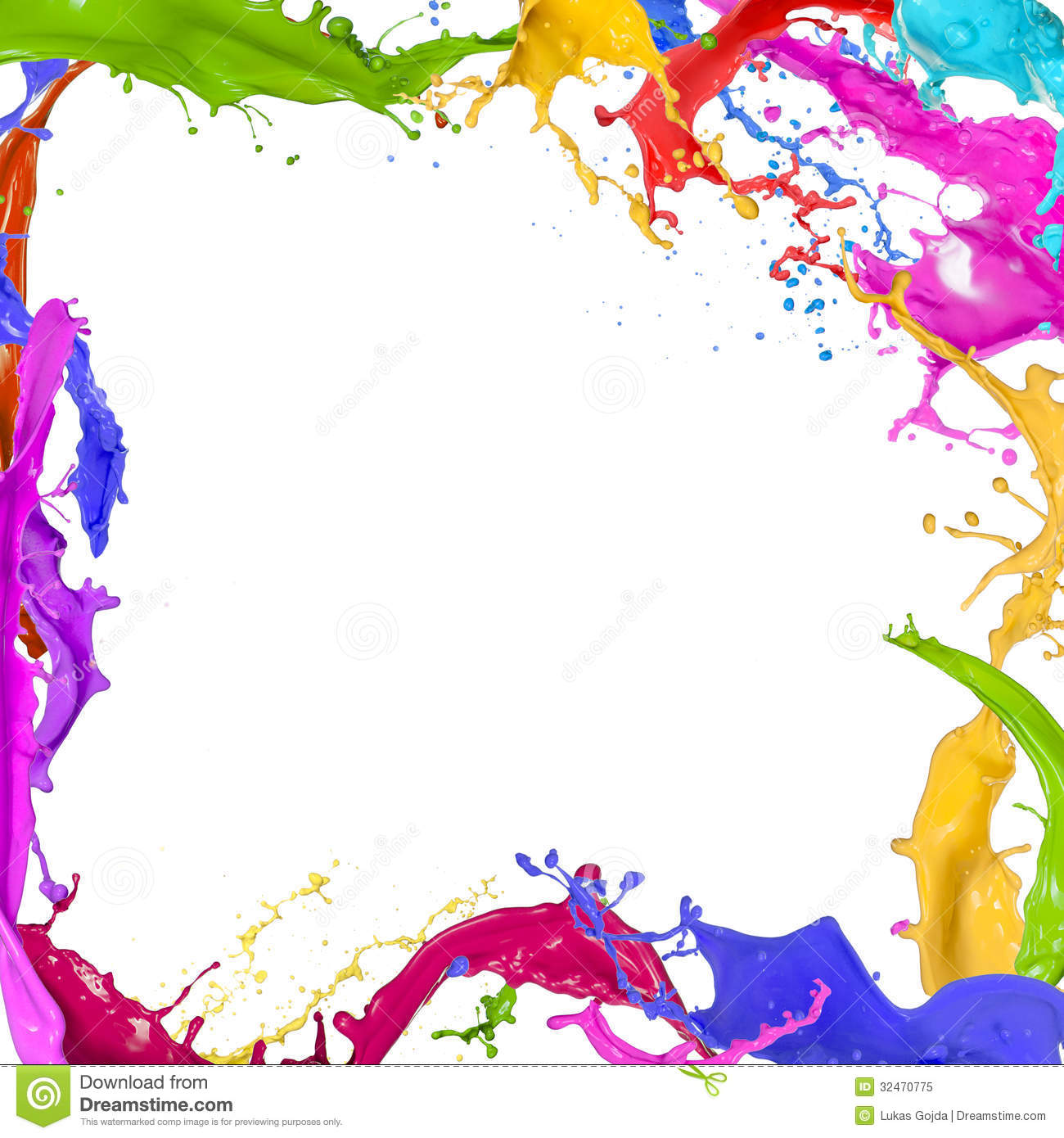 Colorful paint splashing stock image image of acrylic for Background painting ideas