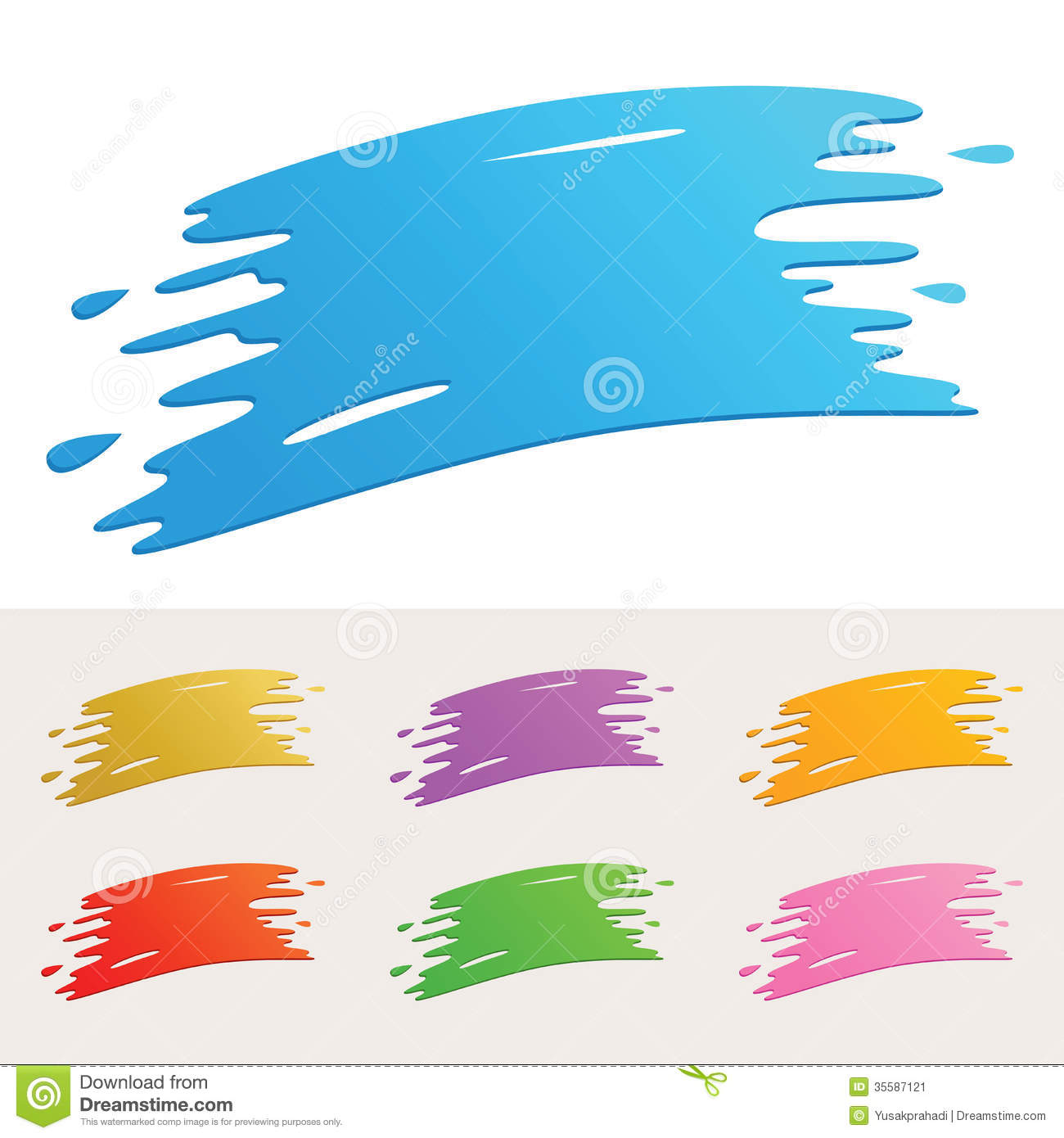 colorful paint splatter stock vector illustration of image 35587121 rh dreamstime com paint splash vector cdr paint splash vector download
