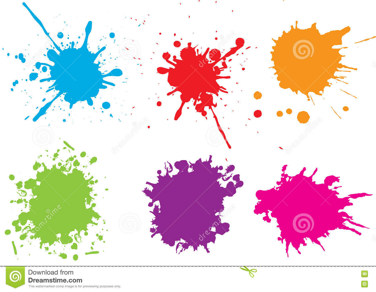 colorful paint splatters vector illustration 90447516. Black Bedroom Furniture Sets. Home Design Ideas