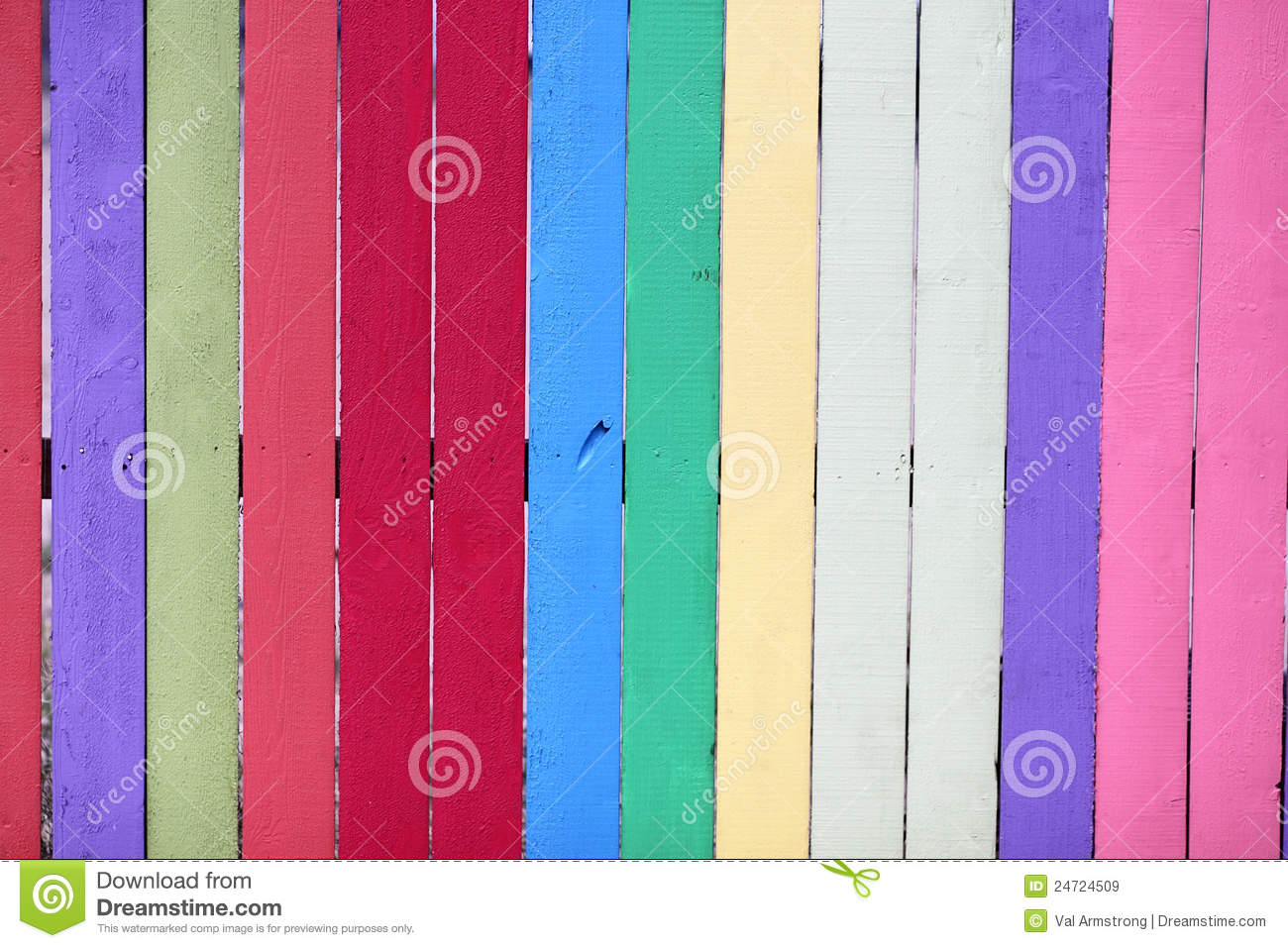 Colorful painted fence royalty free stock images image