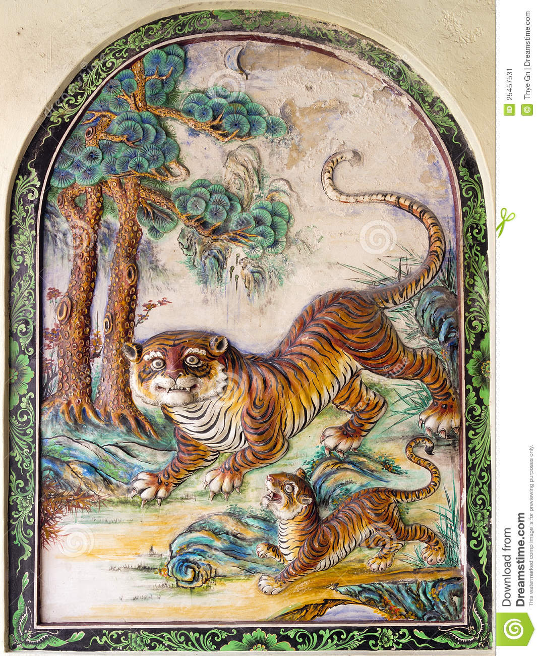 Colorful Tiger Paintin...