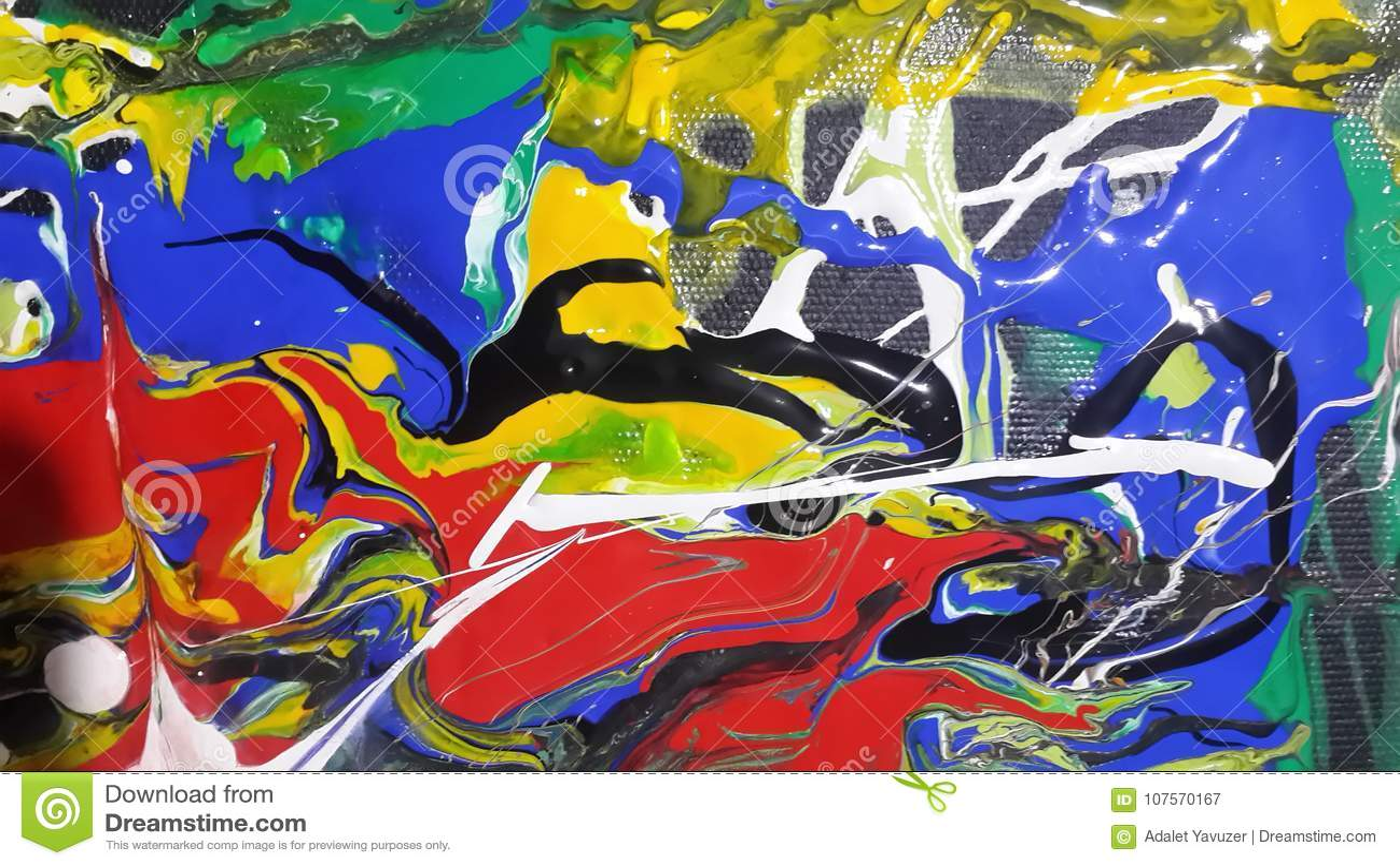 Colorful paintings for digital Printings