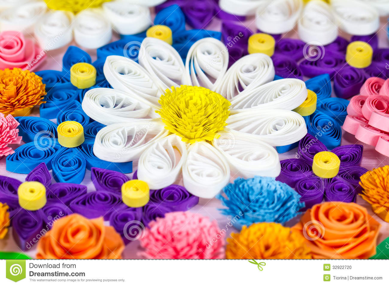 Colorful paper quilling flowers stock photo image of elements download colorful paper quilling flowers stock photo image of elements origami 32922720 mightylinksfo