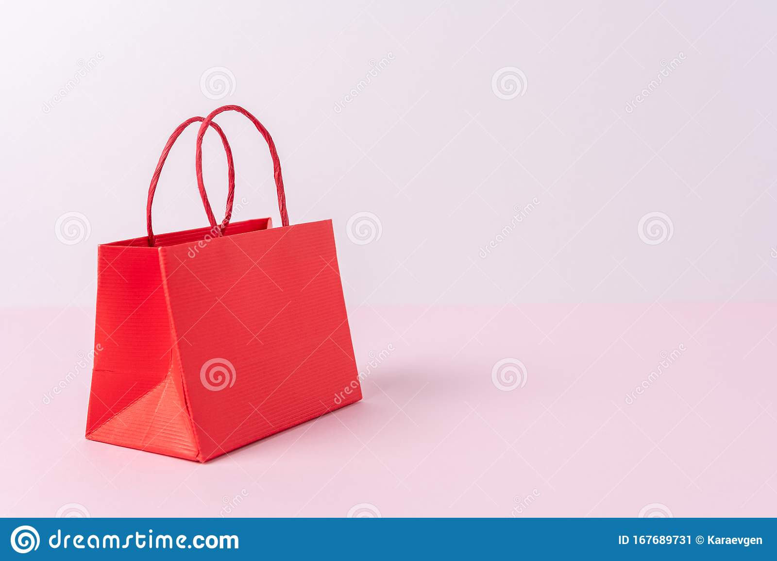 Colorful Paper Shopping Bag On Bright Background Creative Minimal Shopping Concept Stock Image Image Of Decoration Carry 167689731