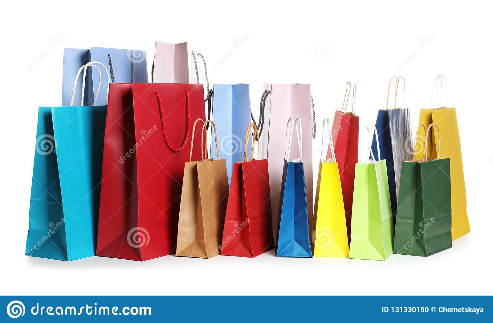 Colorful paper shopping bags