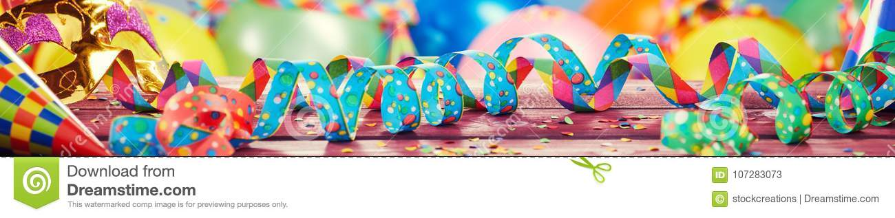 Colorful party, carnival or holiday banner