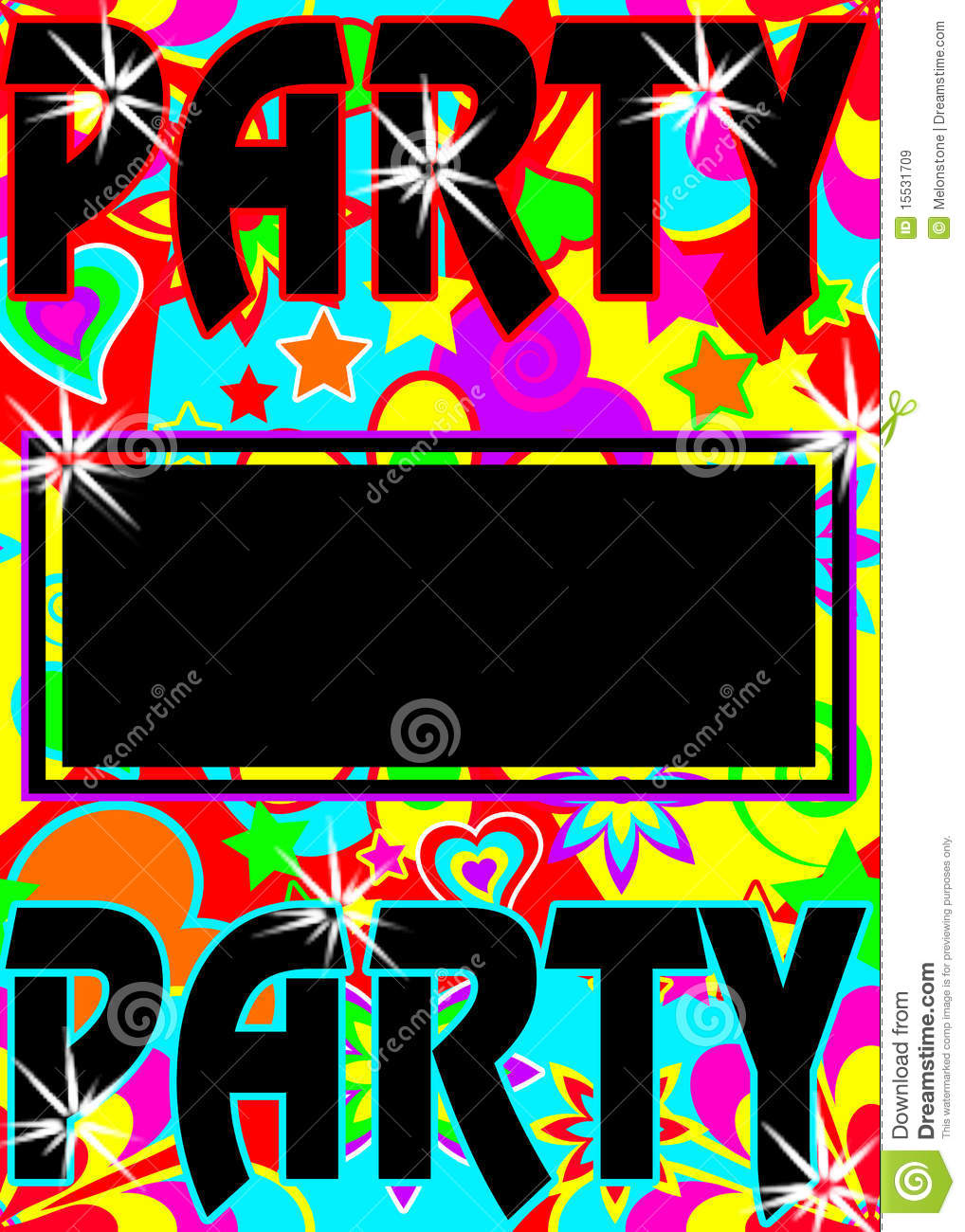 Colorful party invite stock illustration. Image of bright - 15531709