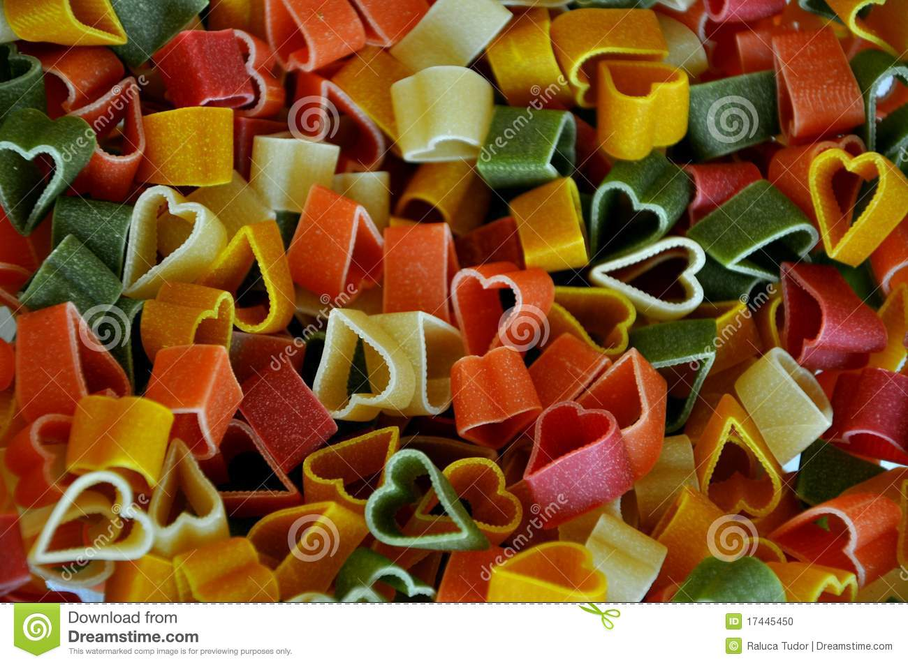 Colorful Pasta Stock Photo Image 17445450
