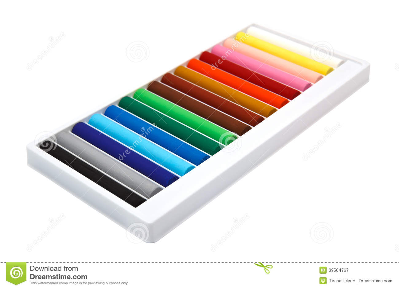 Colorful pastel sticks