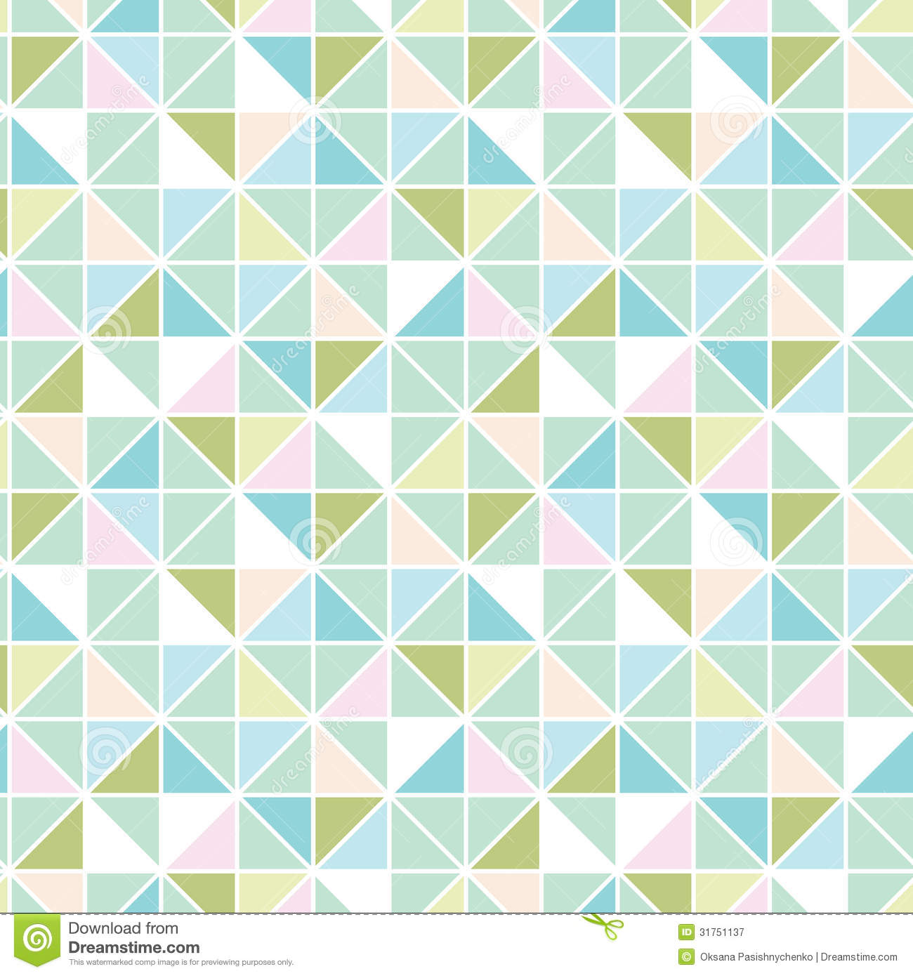 Colorful Pastel Triangle Texture Seamless Pattern Royalty