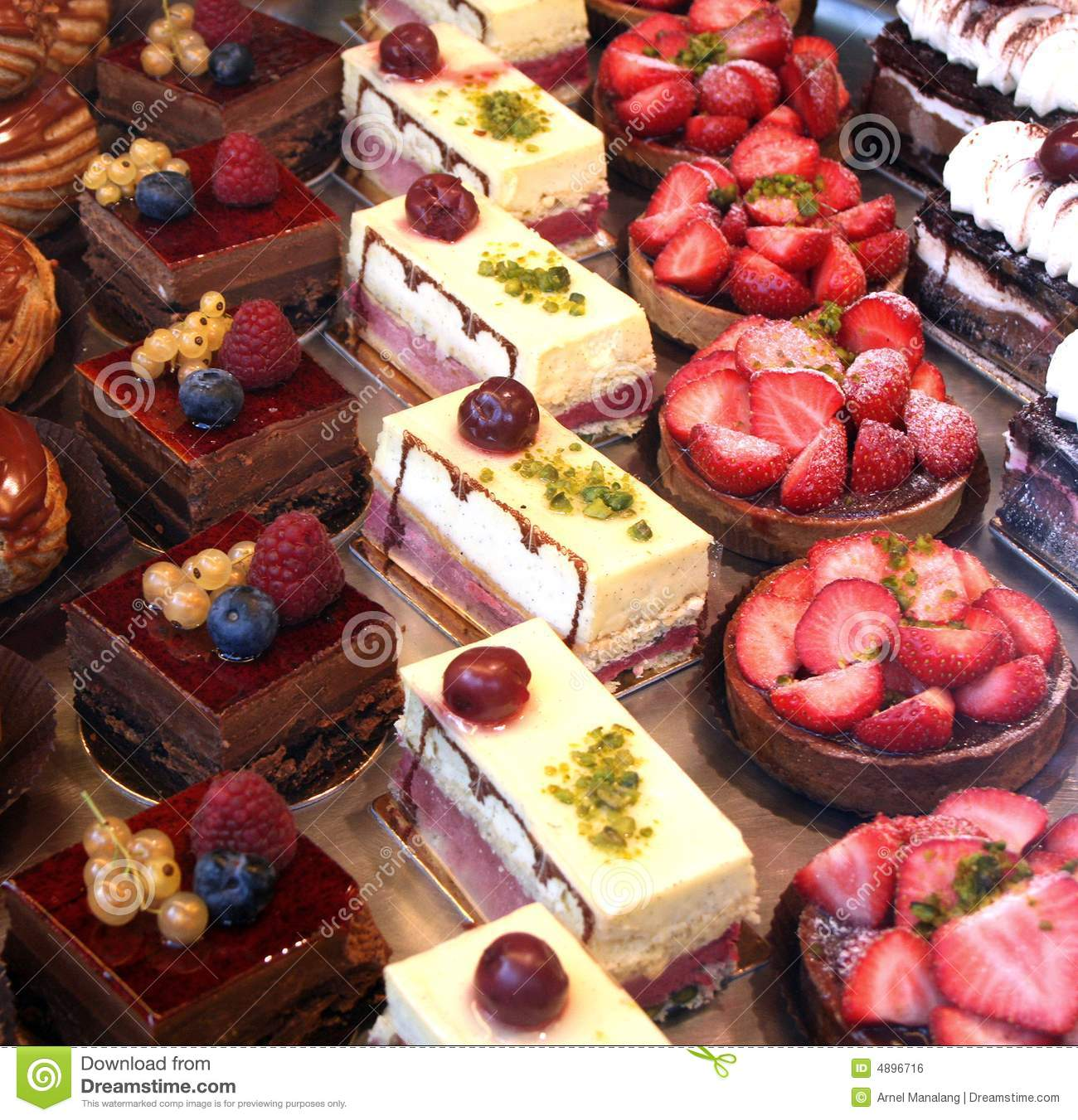 Colourful Fruit Cake: Colorful Pastry Display Royalty Free Stock Image