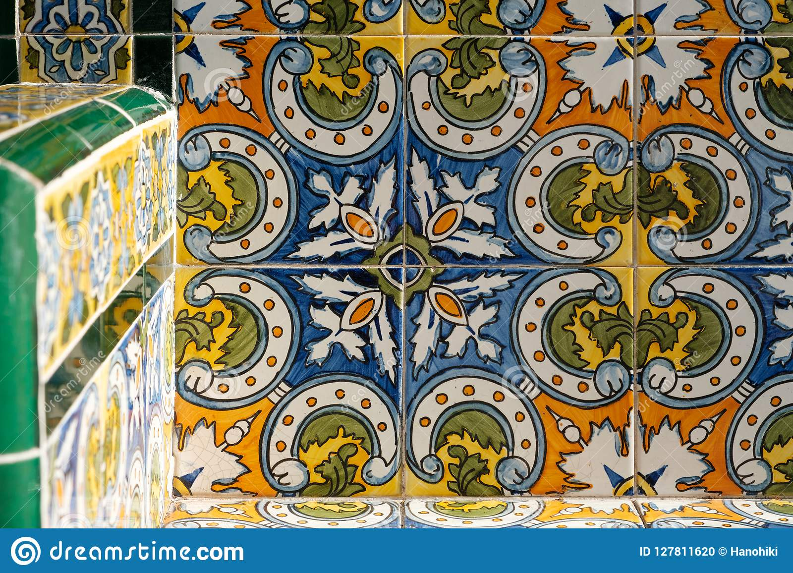 Colorful Pattern Ceramic Tiles Beautiful Design Detail Stock Photo Image Of Background Decoration 127811620
