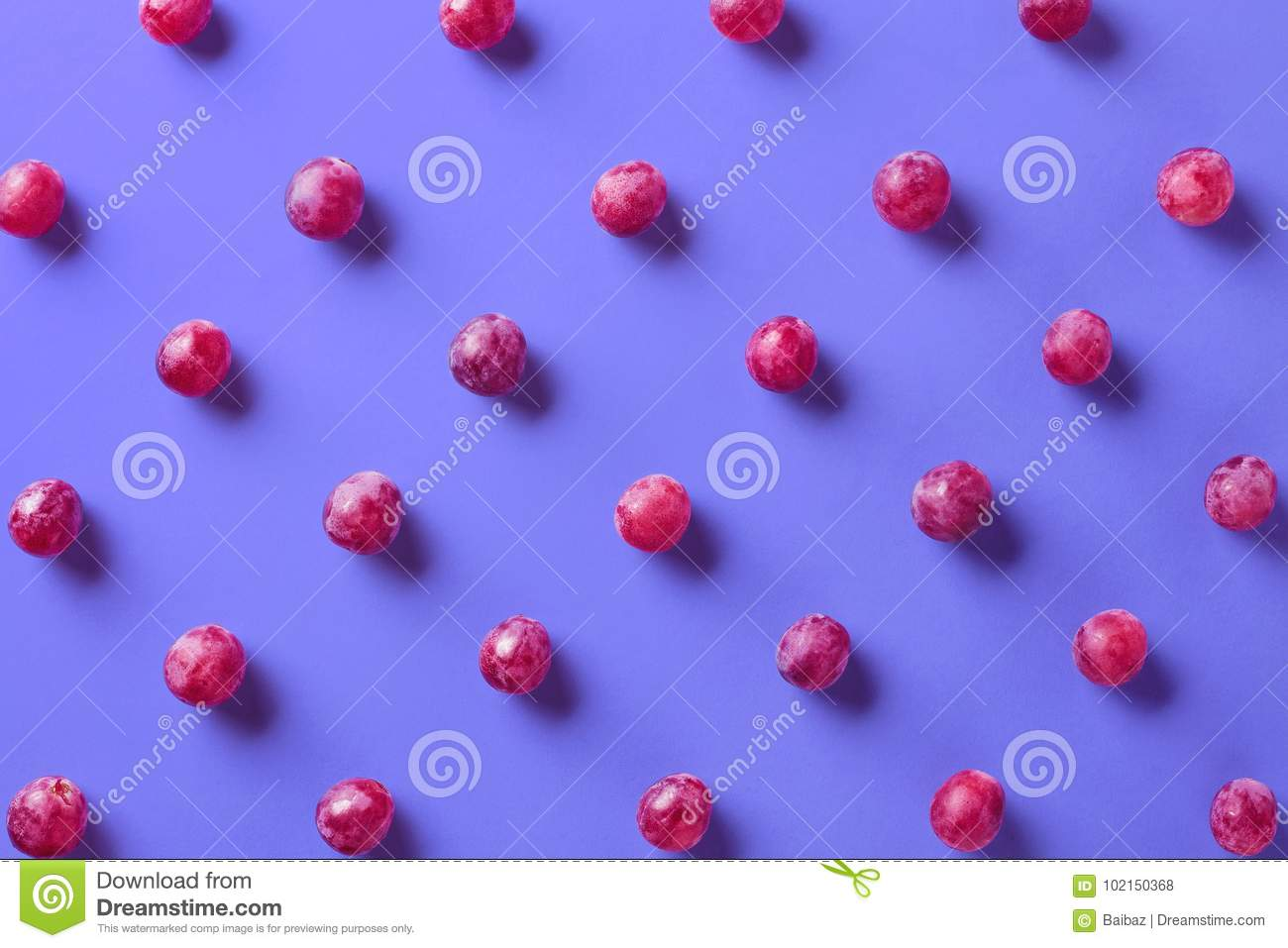 Colorful pattern of grapes