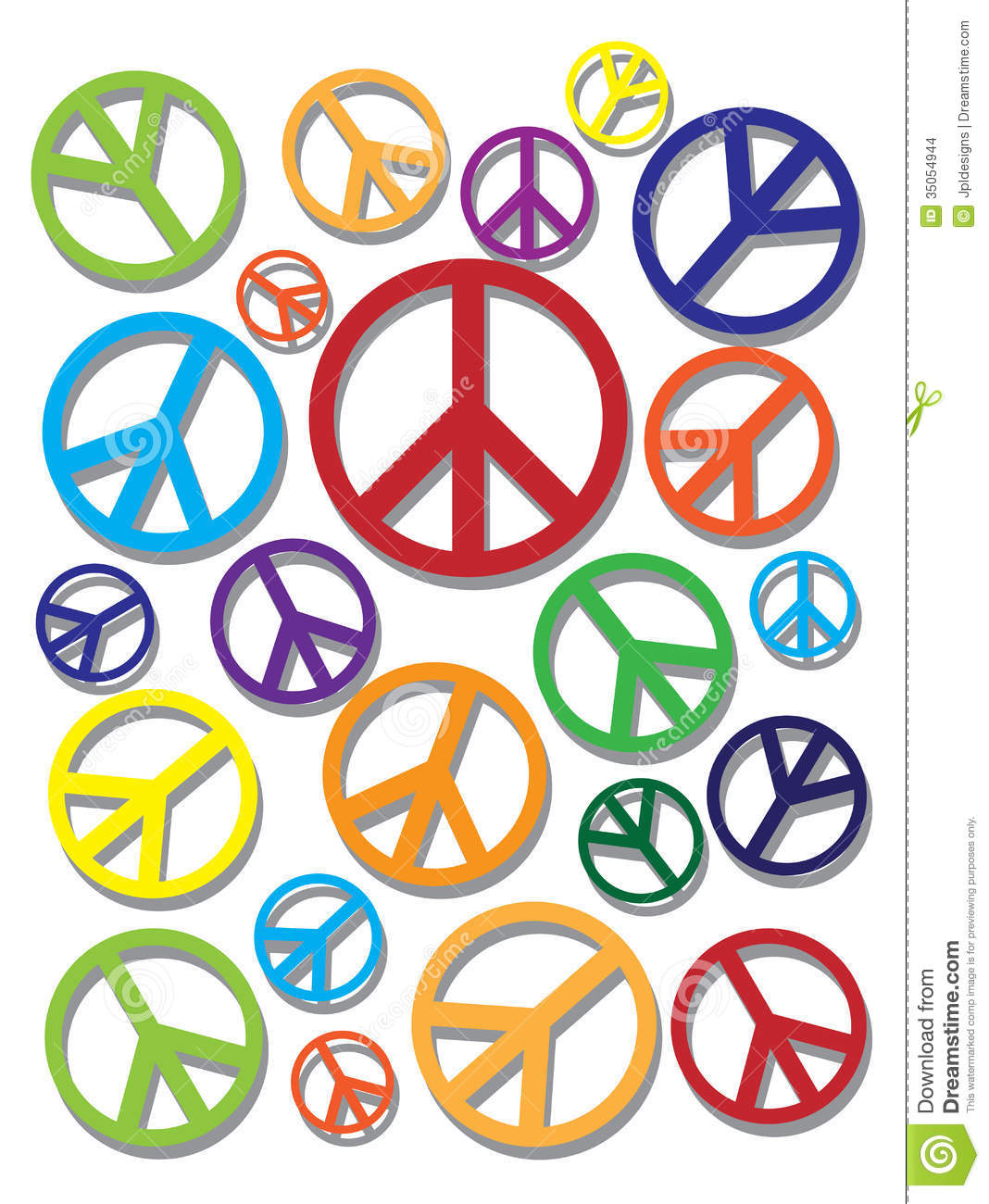 Colorful Peace Signs Backgrounds Colorful peace symbol on
