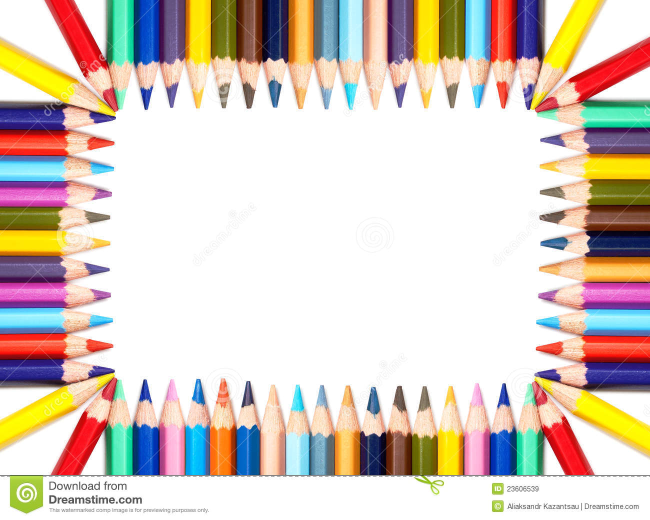 Colorful pencils frame stock image image of color draw for Jardin 7 colores