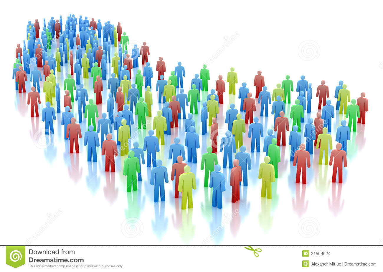 Colorful People Crowd Concept Stock Images - Image: 21504024 Colorful People