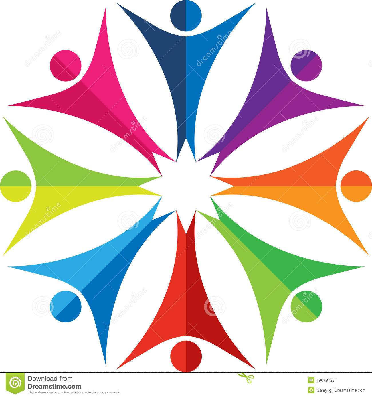Colorful People Logo Royalty Free Stock Photography - Image: 19078127