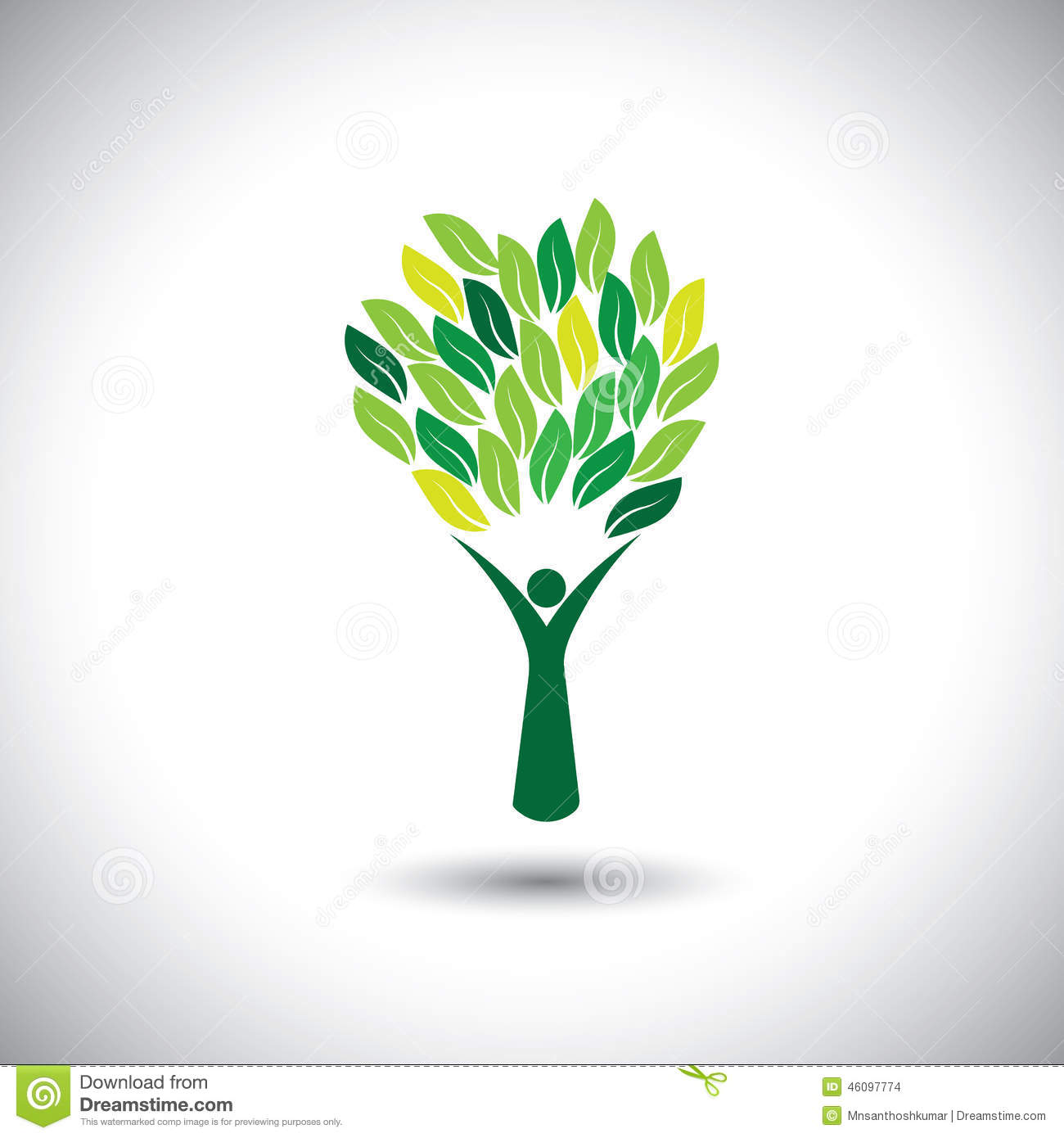 Colorful People Tree - Eco Lifestyle Concept Vector. Stock Vector ...
