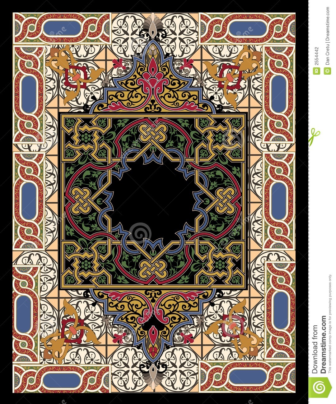 Colorful Persian Rug Stock Illustration Illustration Of