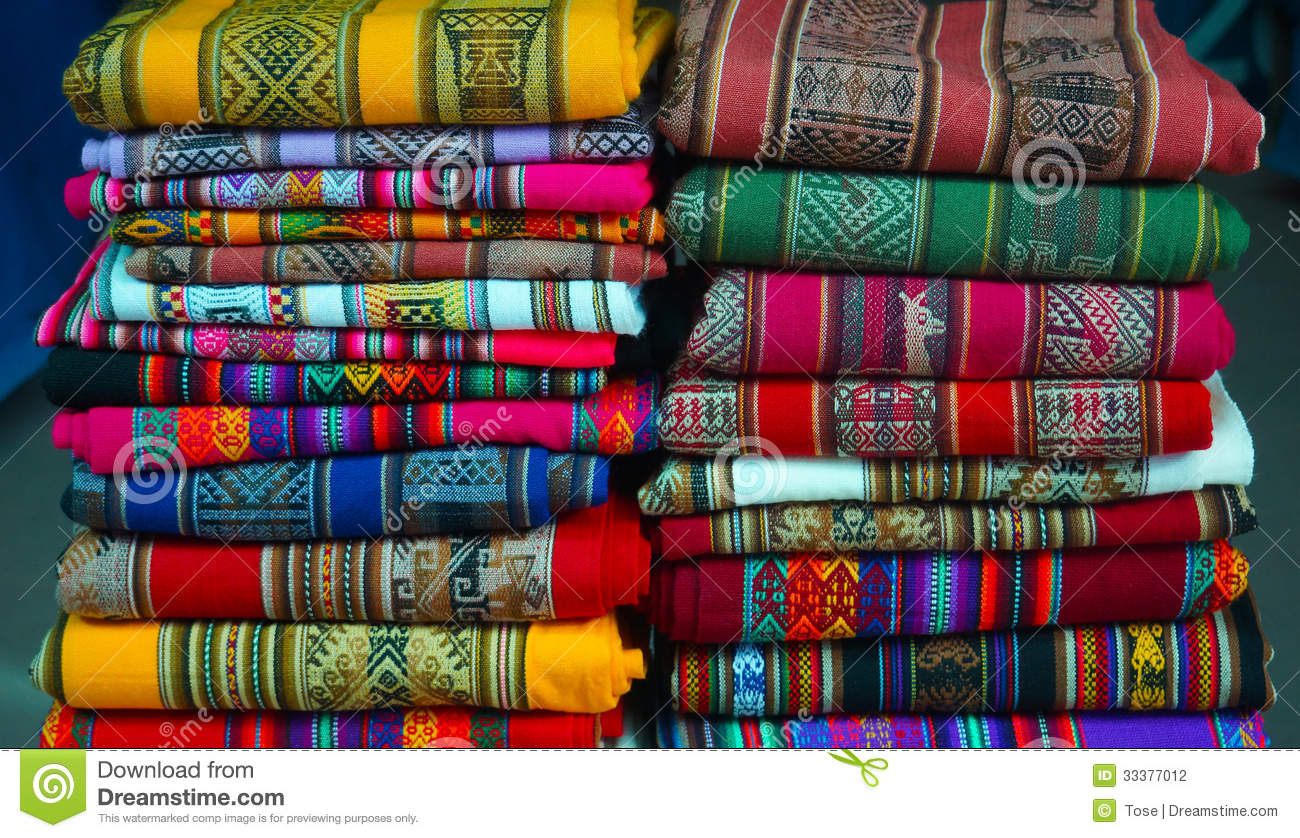 Colorful Peruvian Textiles Stock Photography Image 33377012