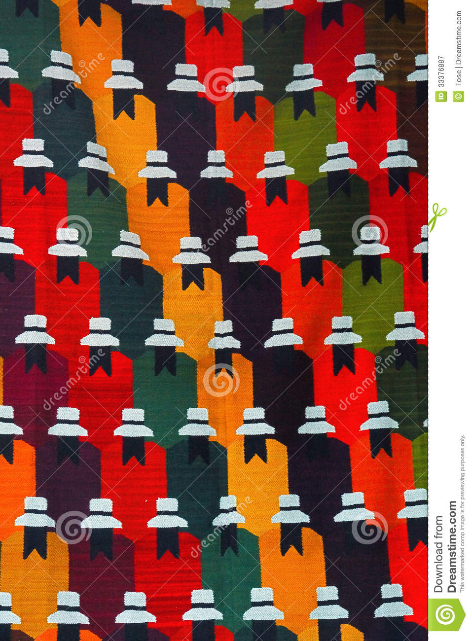 Colorful Peruvian Textiles Royalty Free Stock Photography