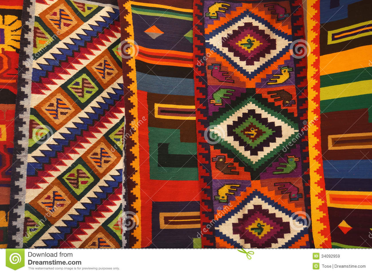 Download Colorful Peruvian Textiles Stock Image Image Of Multicolor