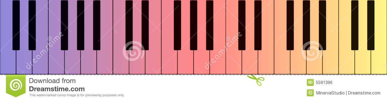 Colorful Piano Banner Stock Illustration Illustration Of Button 5591396