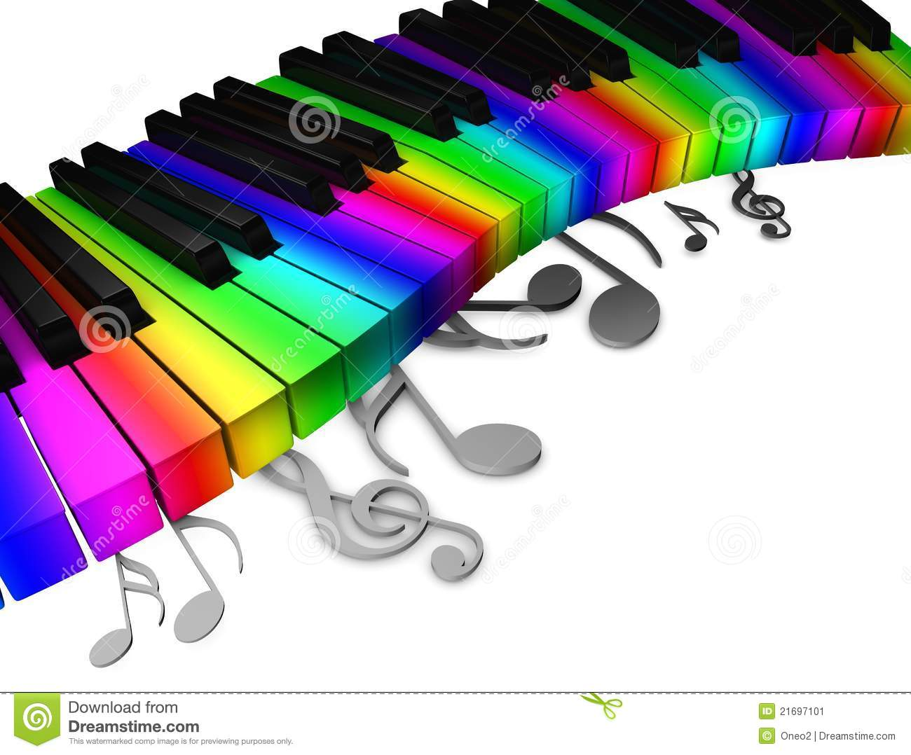 Group Of Colorful Piano Wallpaper Keys