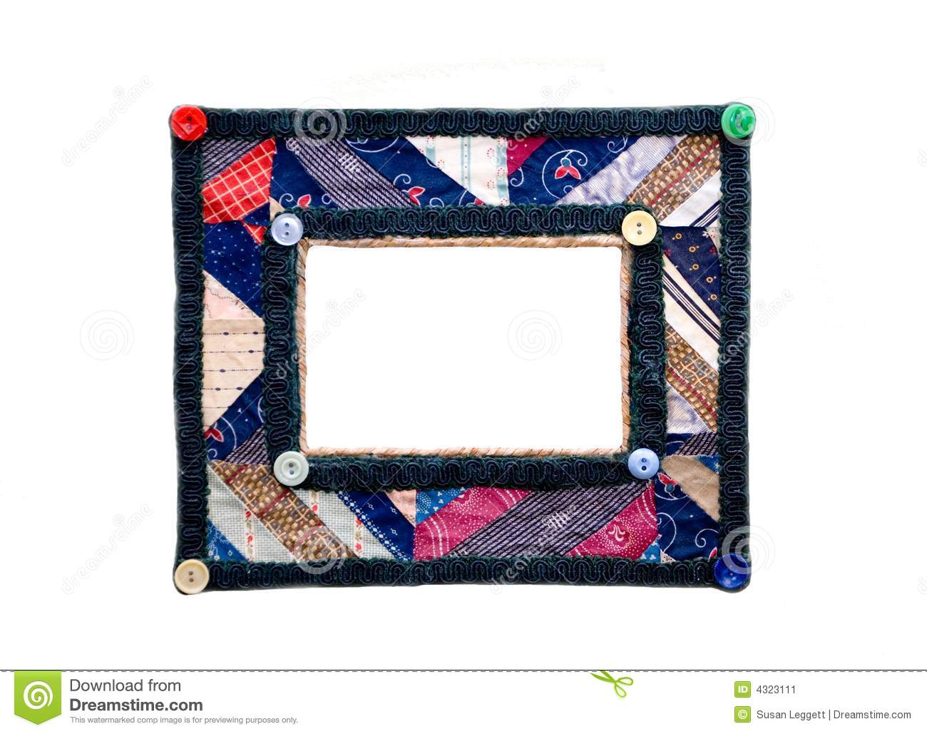 Colorful picture frame/quilt