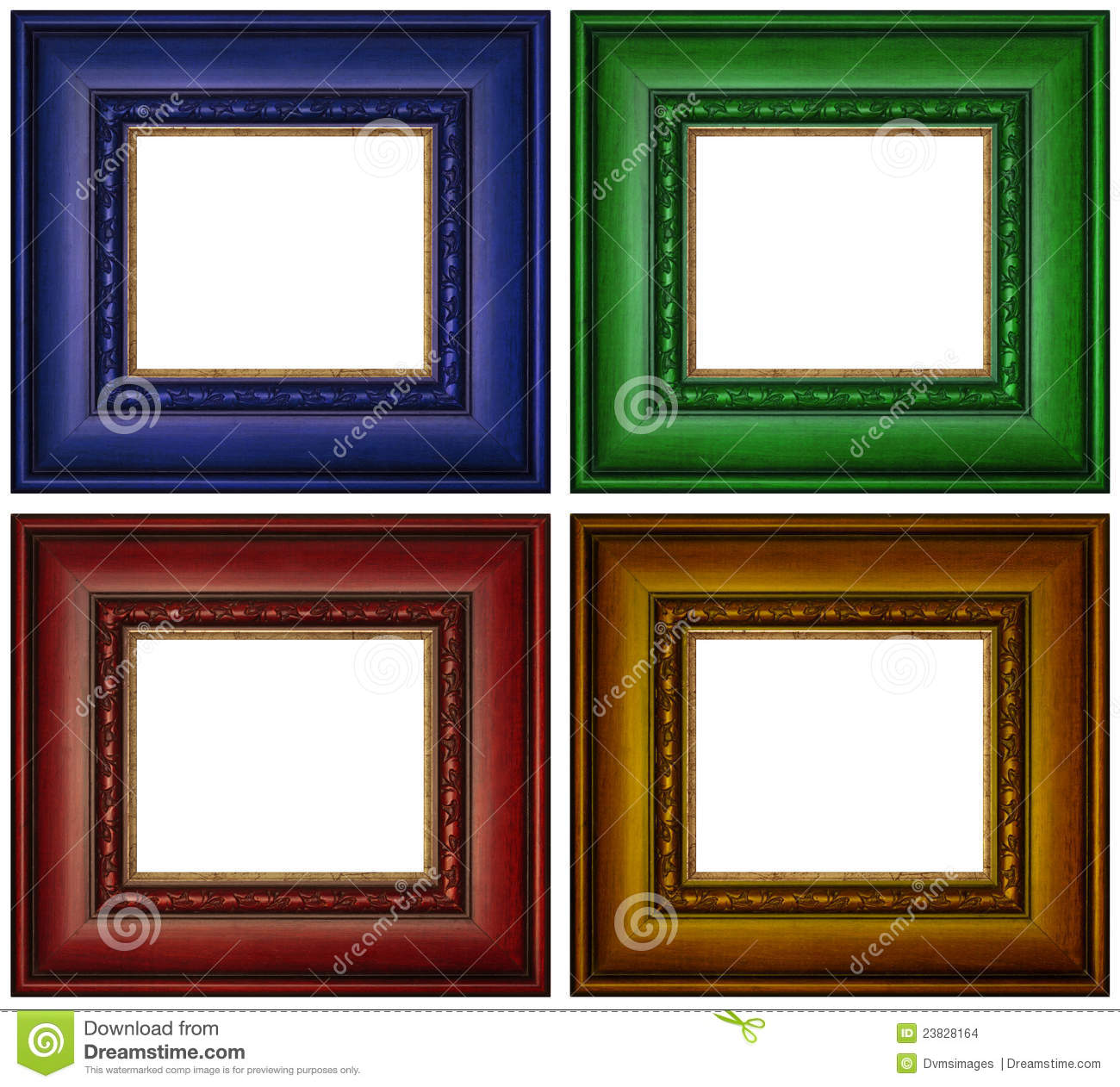 Colorful Picture Frames Stock Photo Image Of Copy Wooden
