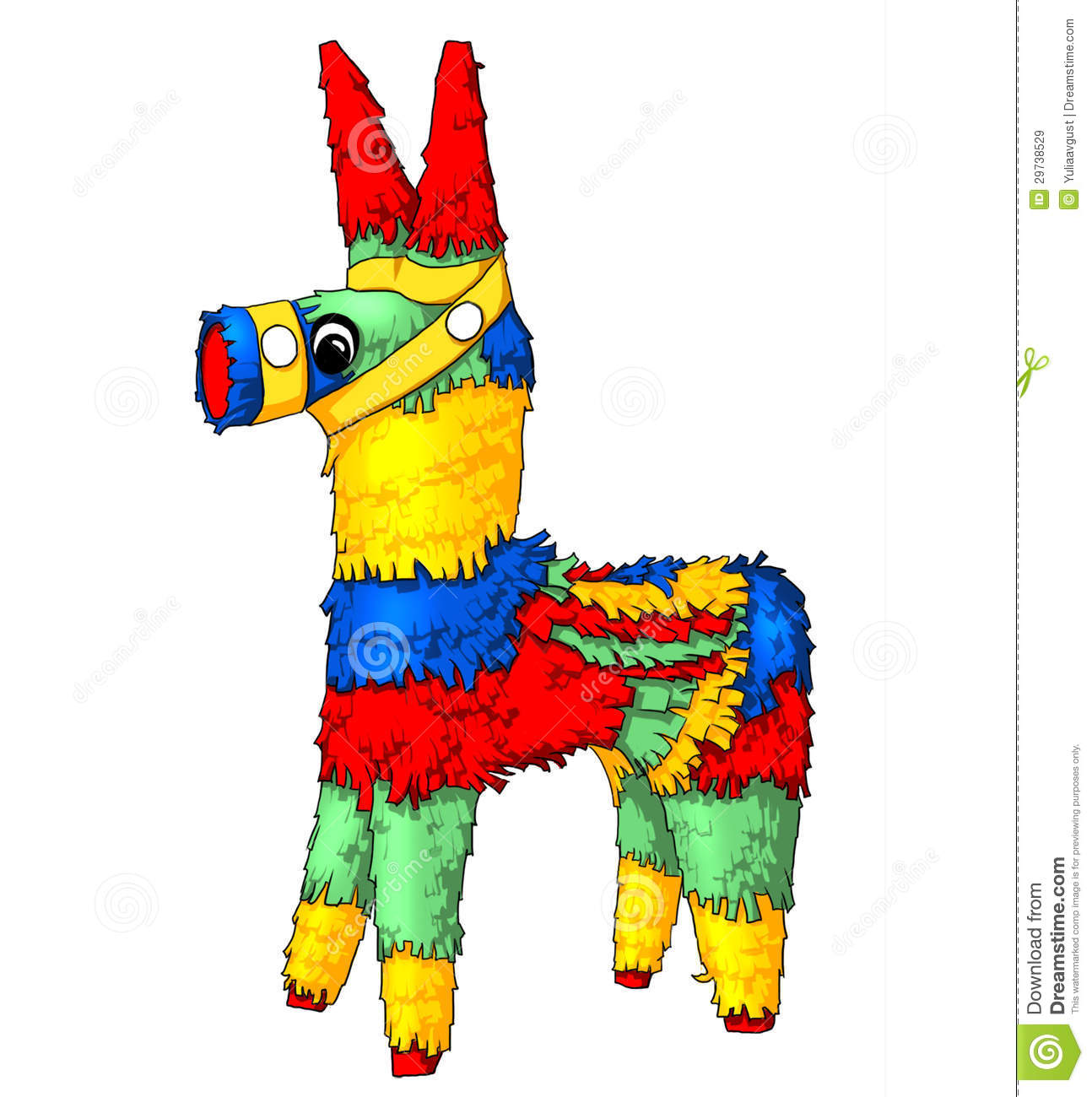 Pinata stock illustration. Illustration of color, isolated ...