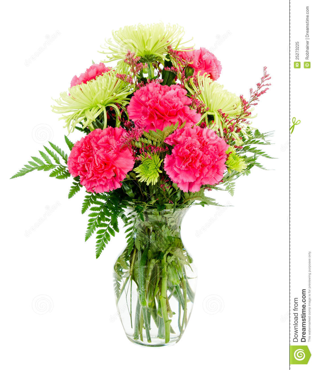 Colorful Pink And Green Flower Arrangement Stock Image Image Of