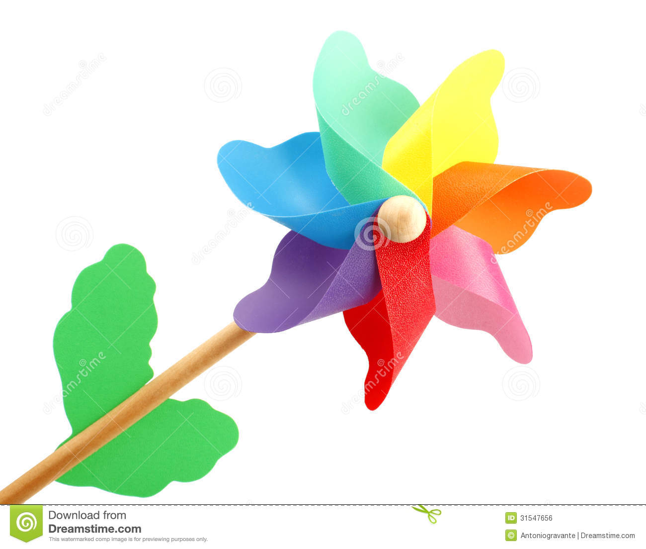 Download Colorful pinwheel stock photo. Image of plastic, colour - 31547656