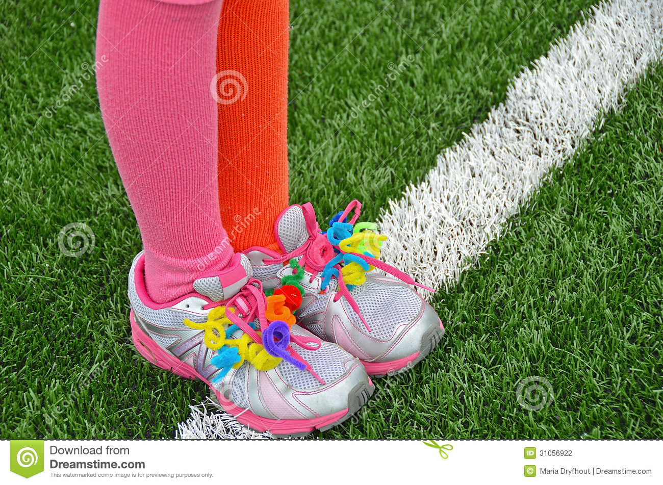 Colorful Pipe Cleaners On Sport Shoes Stock Photo - Image of line ... 7452adc62b8e